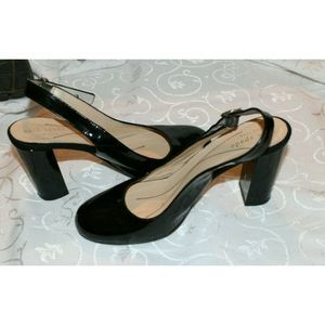 Kate Spade Black Patent Slingback  Size 6